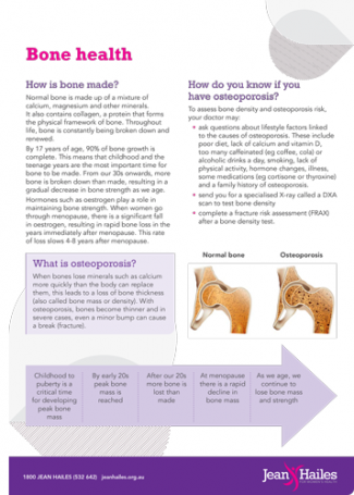 Bone health fact sheet thumb
