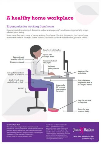 Workplace ergonomics guide fact sheet 1