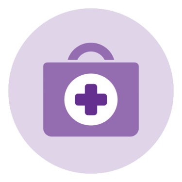 general health purple icon